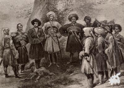 Азега, т.е. Абхазские племена. XIX в.