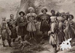 Участники военного совещания эпохи завоевания Кавказа (1839г. Сочи)