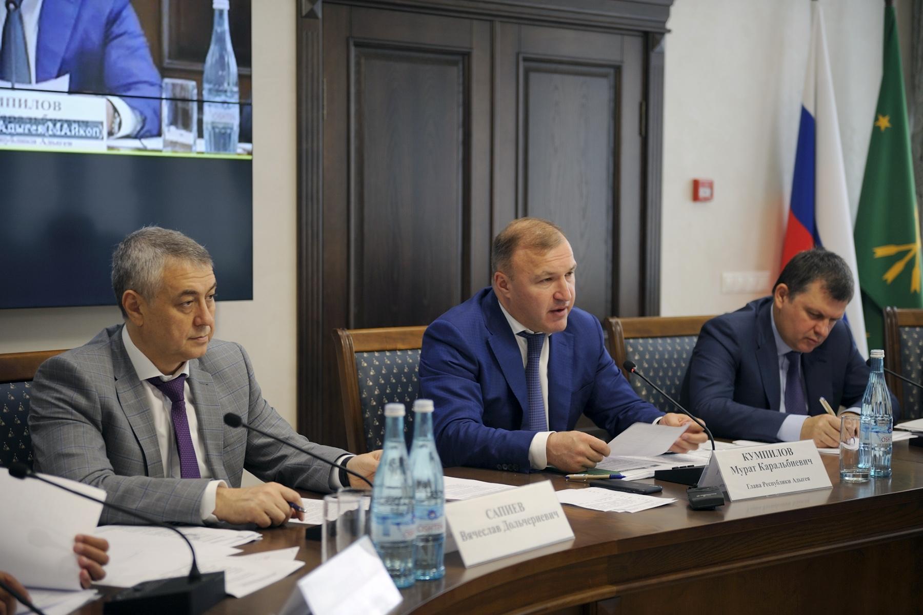 Глава Адыгеи принял участие в «часе регионов», проводимом Министерством природных ресурсов и экологии России