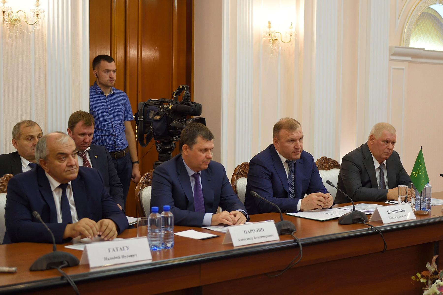 Адыгея и Кубань договорились о совместном участии в реализации Стратегии пространственного развития РФ