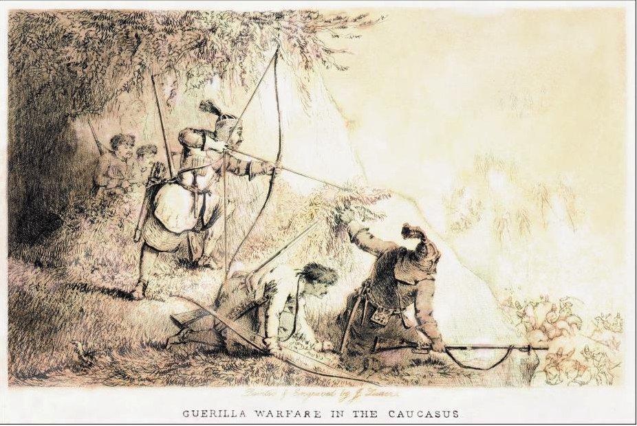 Для дистанционного боя черкесы применяли лук со стрелами