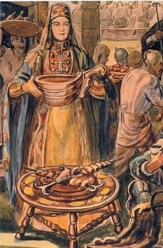 Описательная характеристика  Сэтэнай-гуаще в нартском эпосе адыгов.