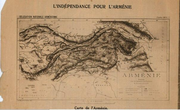 Map of the Armenian Republic in the French journal of 1919