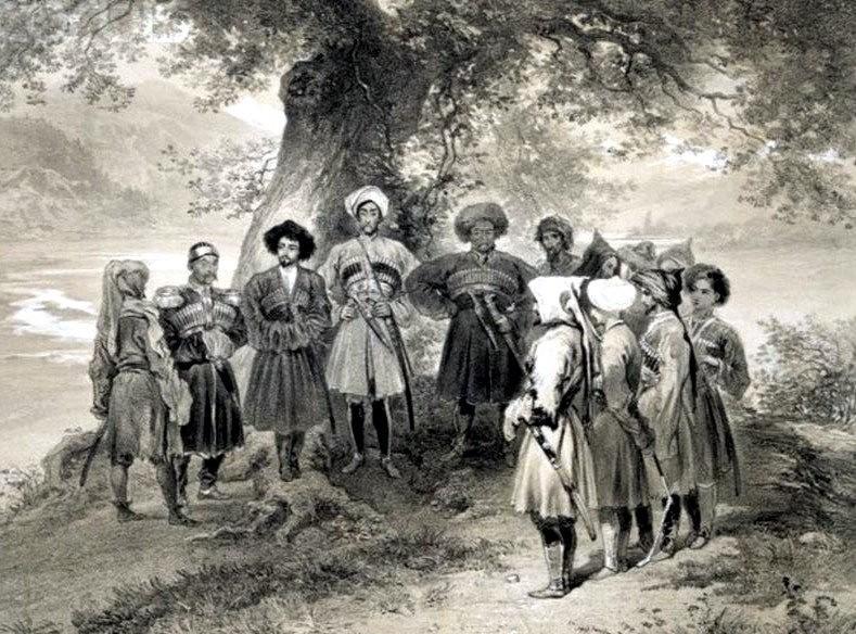 Hommaire de Hell (Франция, 1868 г.) о черкесах