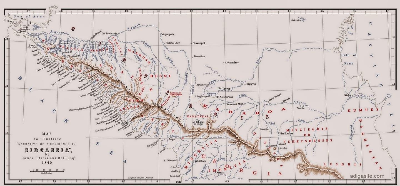 Народы Адыге составляли самое многочисленное туземное племя на Западном Кавказе