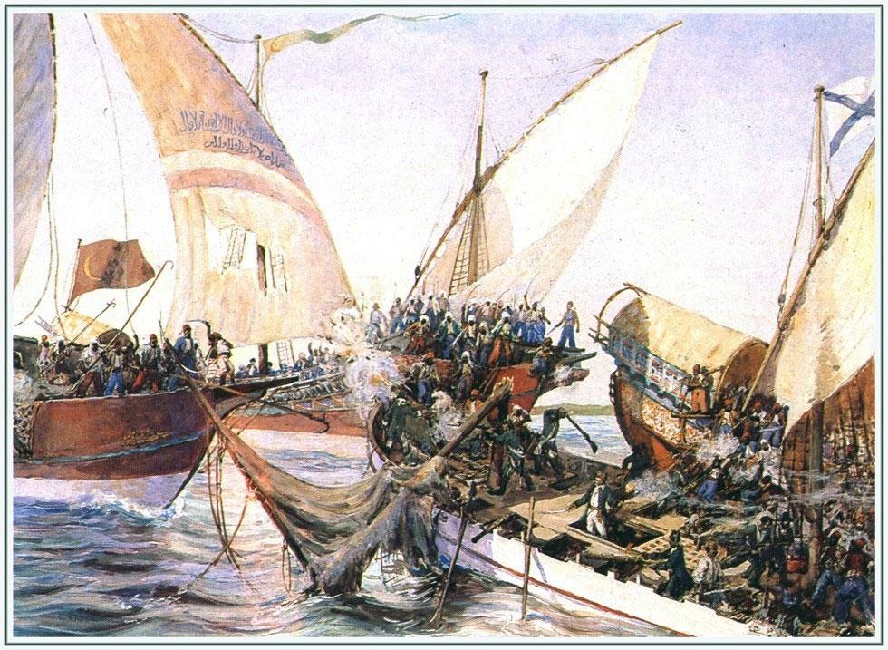 Горцы побережья имели многочисленную гребную и парусную флотилию