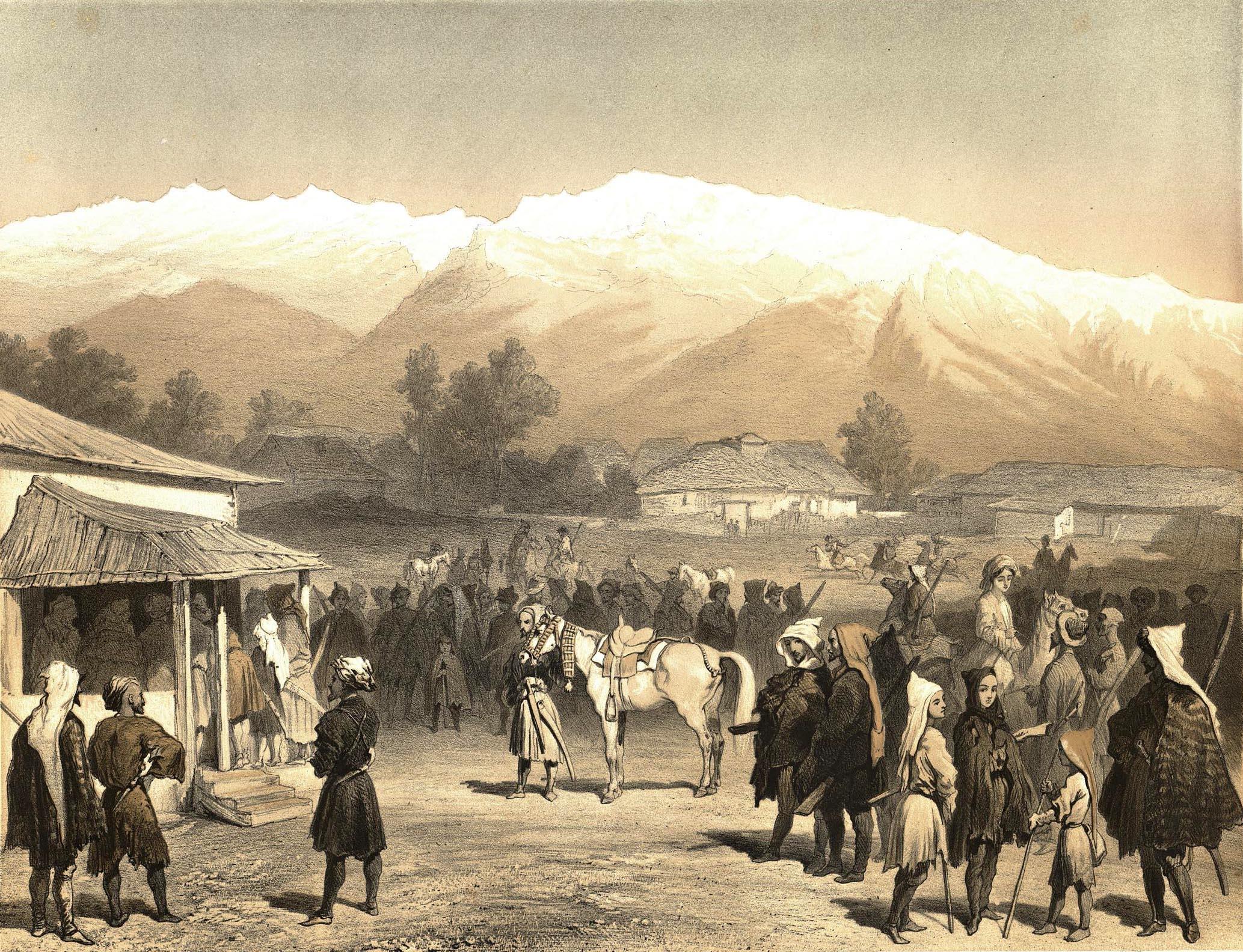 1852 г. - Ведомость о населении покорных аулов