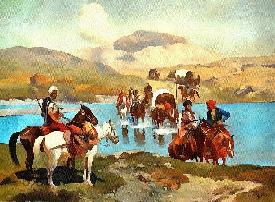 Поход адыхов с Байканом в Дербент и Гуртат