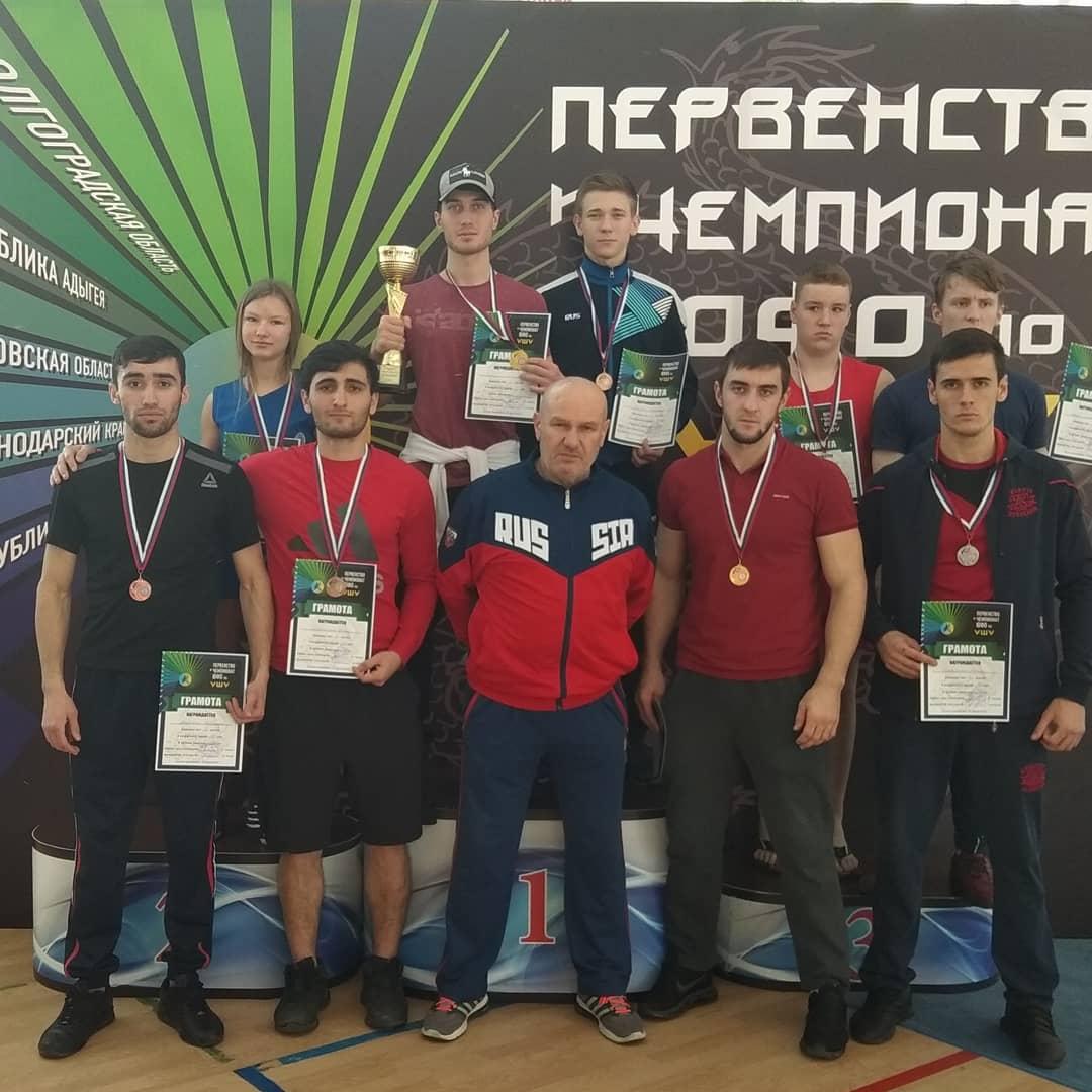 Сборная Адыгеи по ушу-саньда завоевала бронзу чемпионата ЮФО