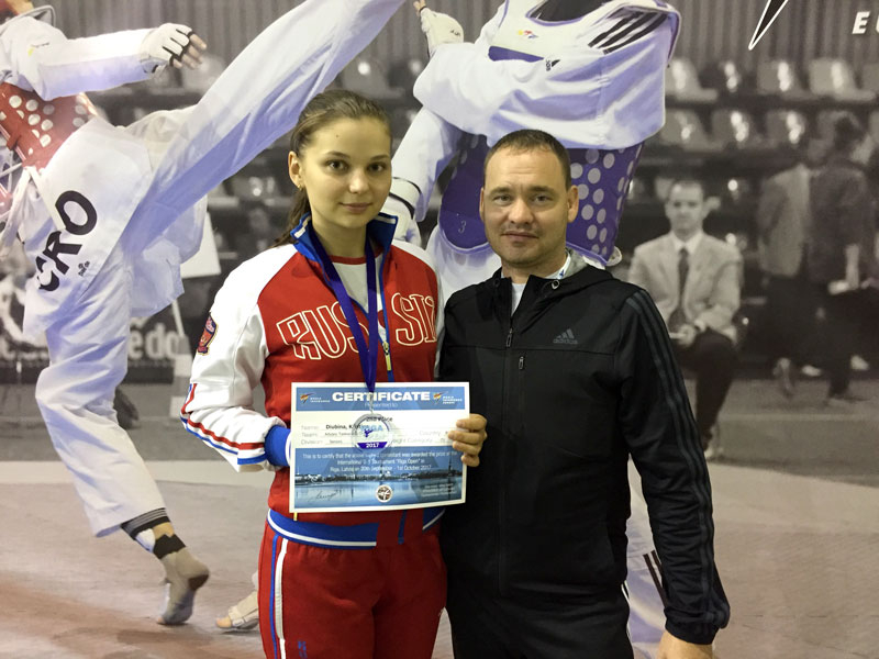 THE ATHLETE FROM ADYGEA WON THE SILVER MEDAL AT THE INTERNATIONAL TAEKWONDO TOURNAMENT