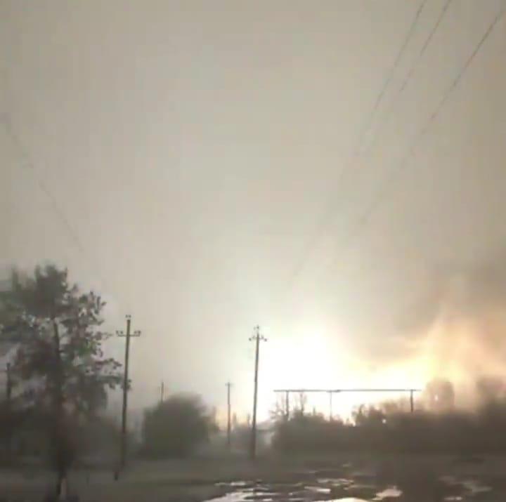 В МЧС Адыгеи прокомментировали возгорание электростанции в Ханской