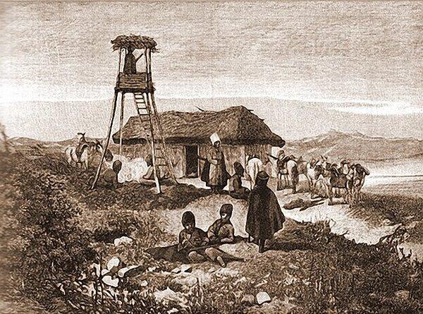 Закубанская Черкесия и Кабарда - условия выживания