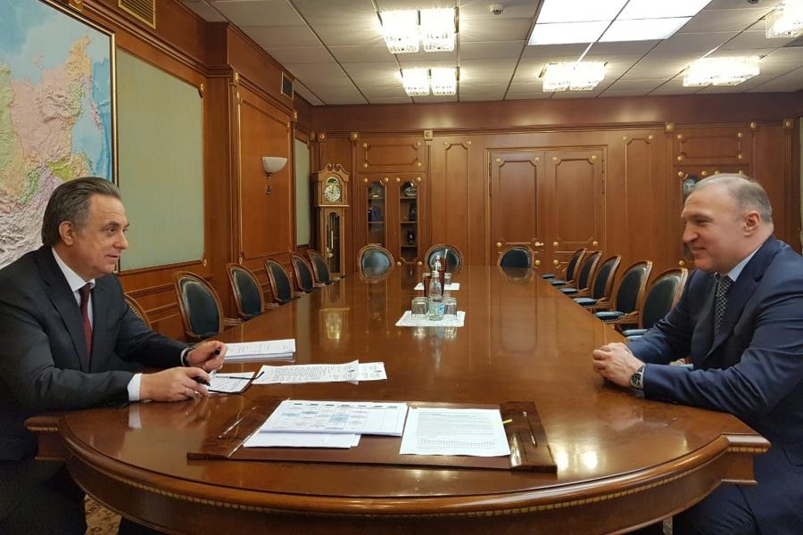 Мурат Кумпилов проинформировал Виталия Мутко о подготовке к празднованию 100-летия автономии Адыгеи