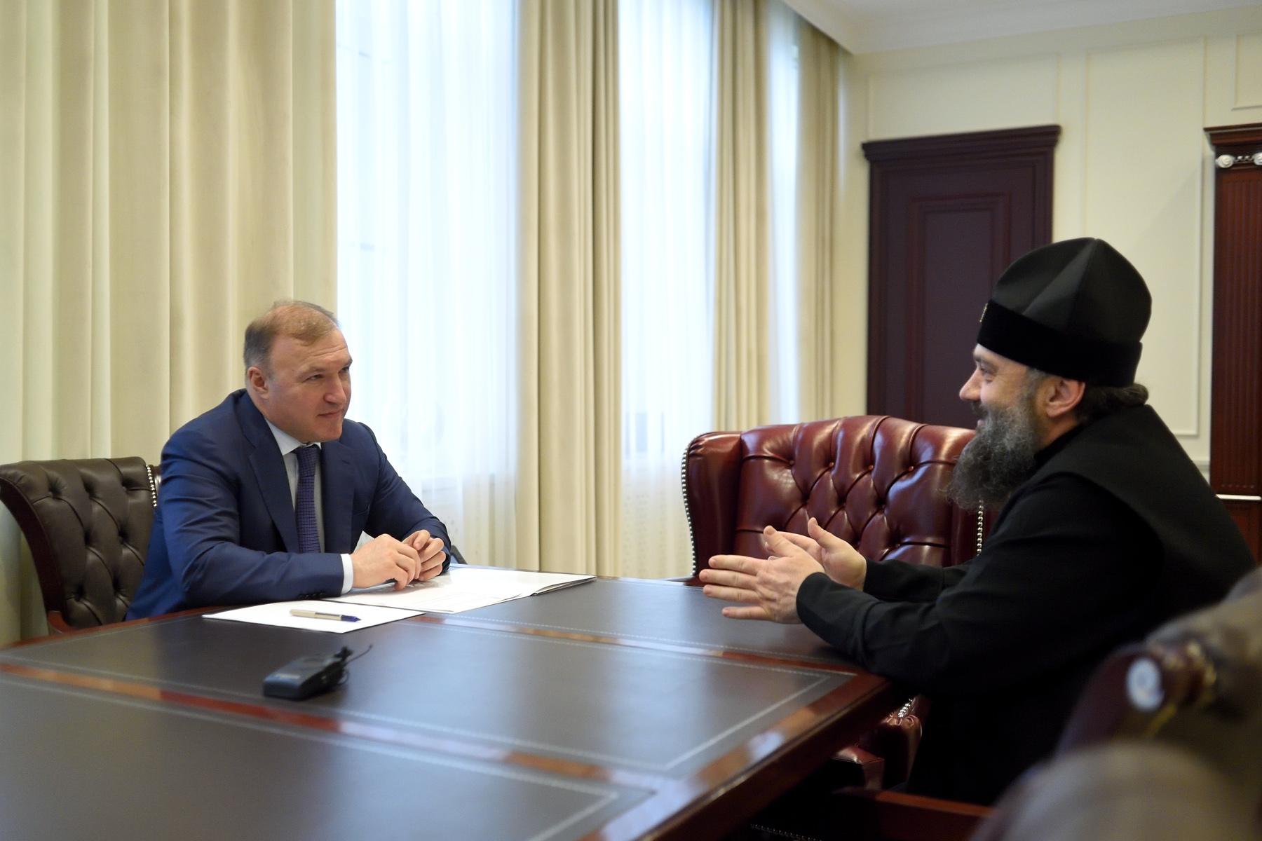 Глава Адыгеи и Владыка Тихон обсудили вопросы укрепления межконфессионального согласия в регионе