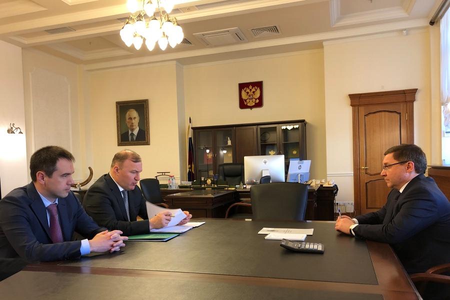 Глава Адыгеи встретился с министром строительства России Владимиром Якушевым
