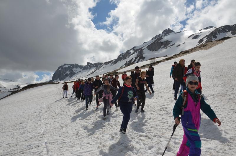 В горах Адыгеи прошла патриотическая акция в честь Дня Победы