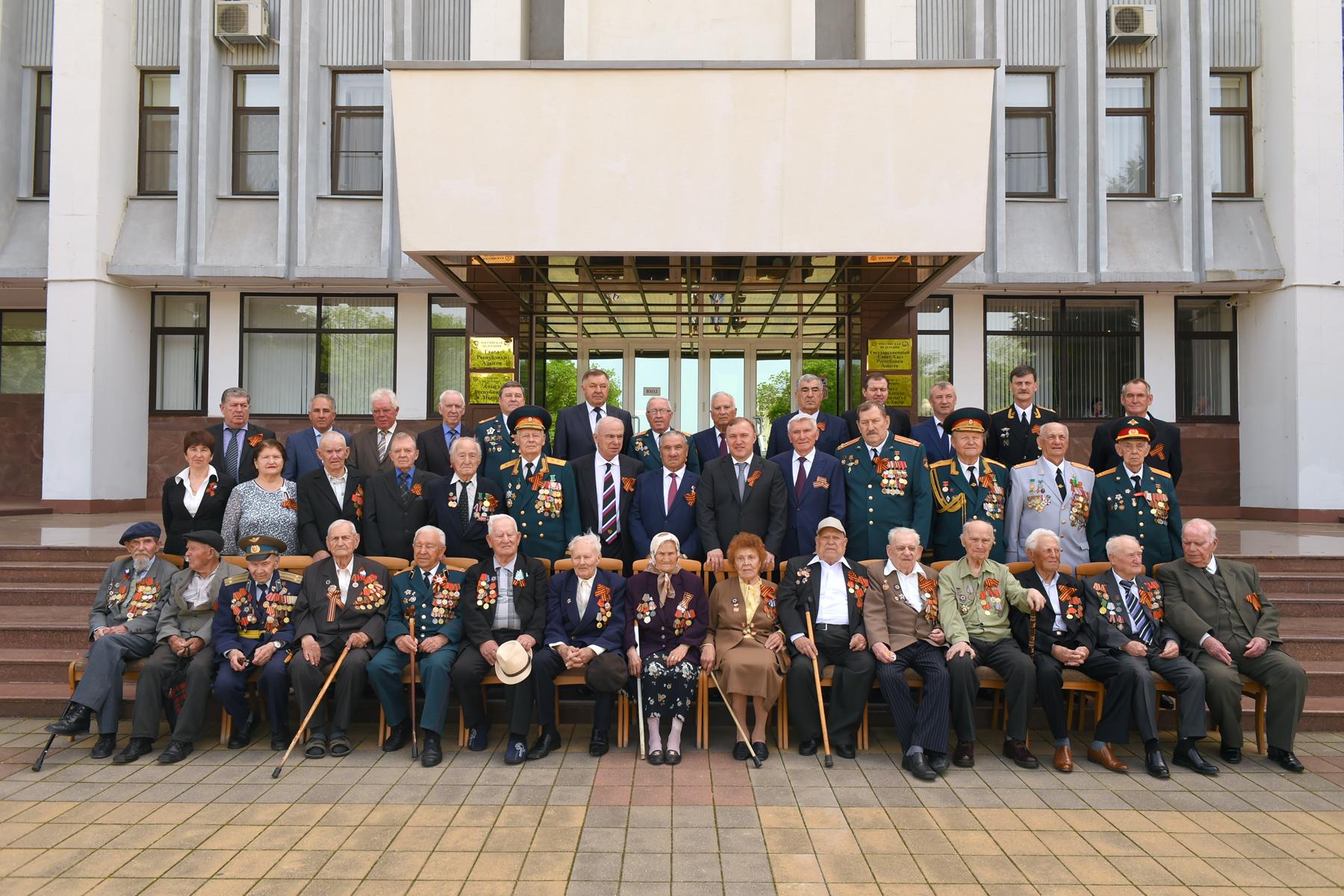 В Адыгее прошел торжественный прием ветеранов Великой Отечественной войны