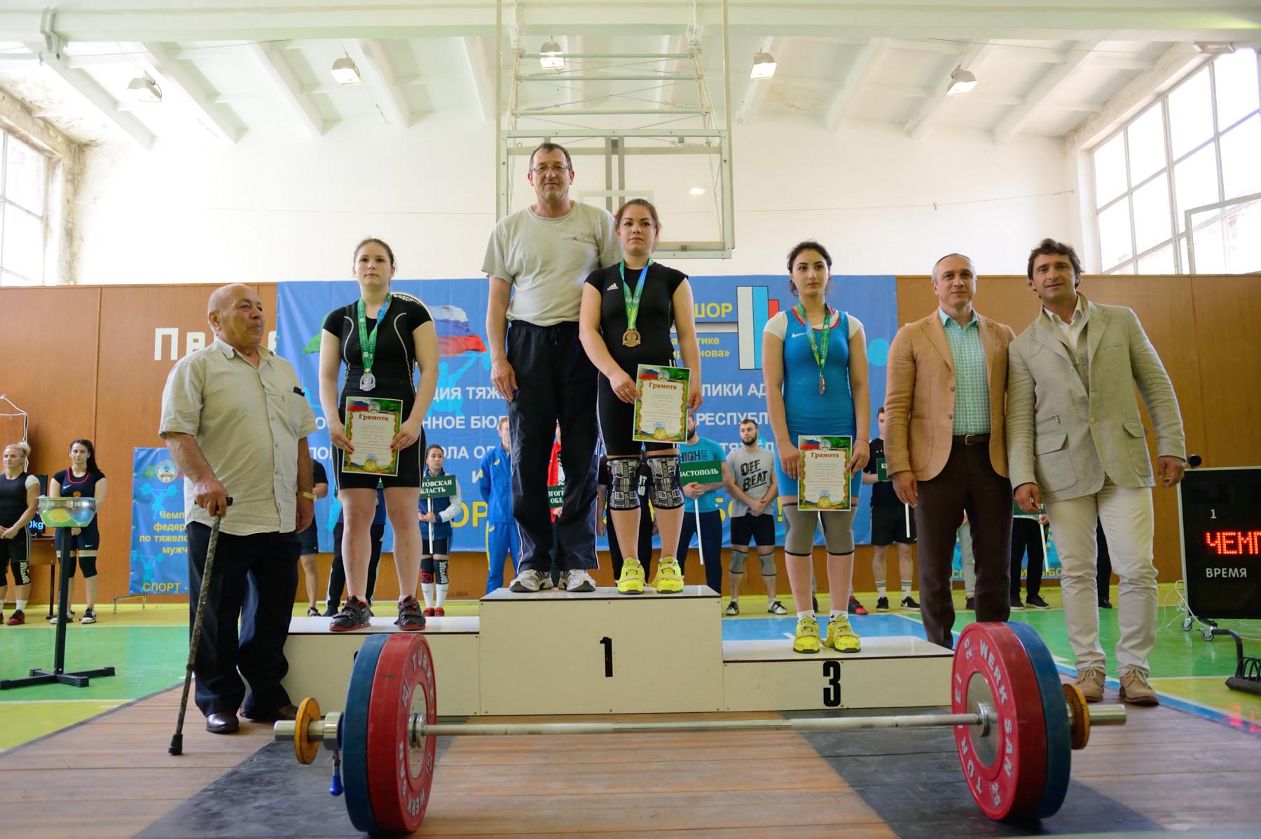 Спортсмены из Адыгеи завоевали медали чемпионата ЮФО по тяжелой атлетике