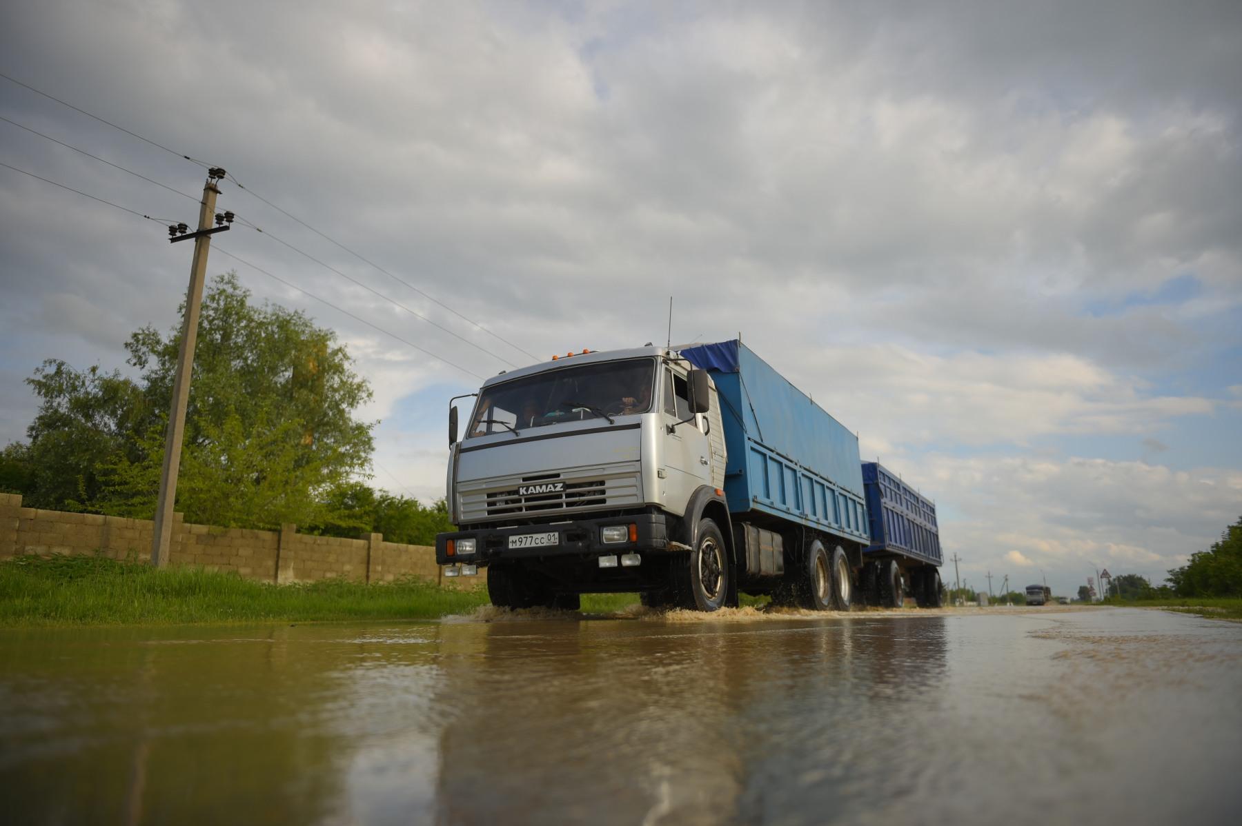 В пострадавшем от паводка Тахтамукайском районе Адыгеи введен режим повышенной готовности