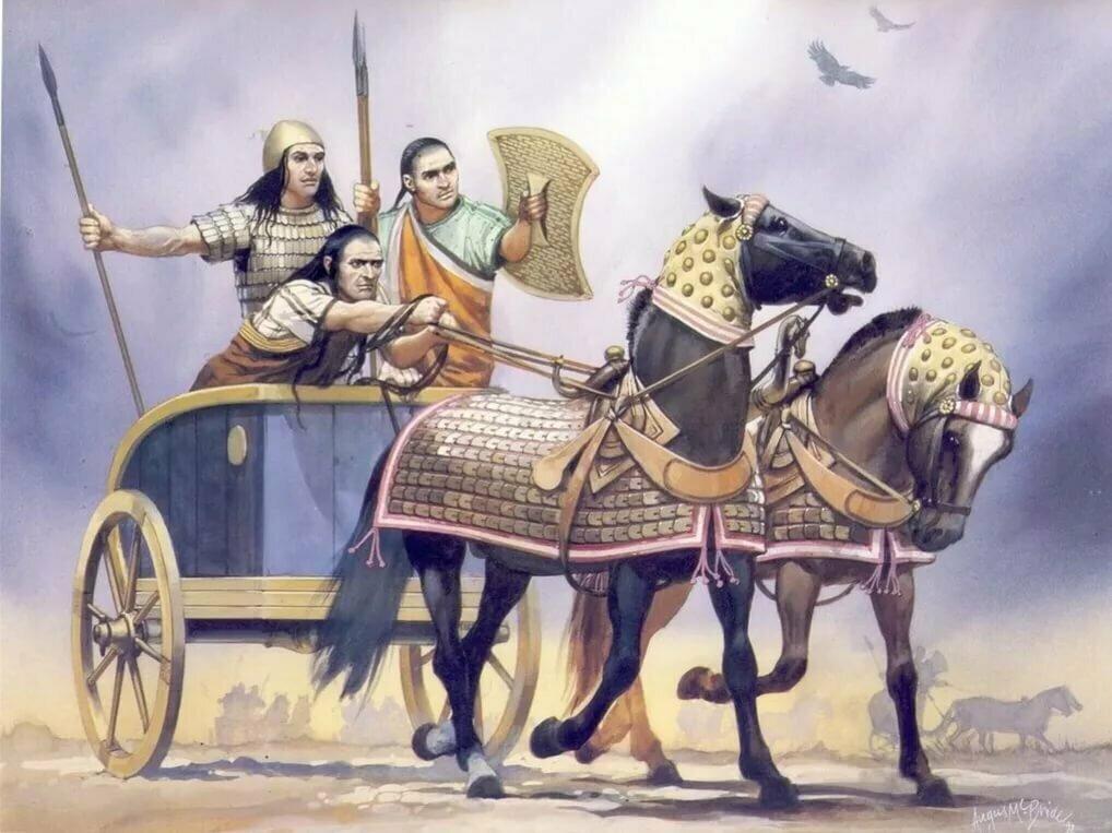 Военные колесницы хаттов и хеттов, имеют ли отношения к адыгам?