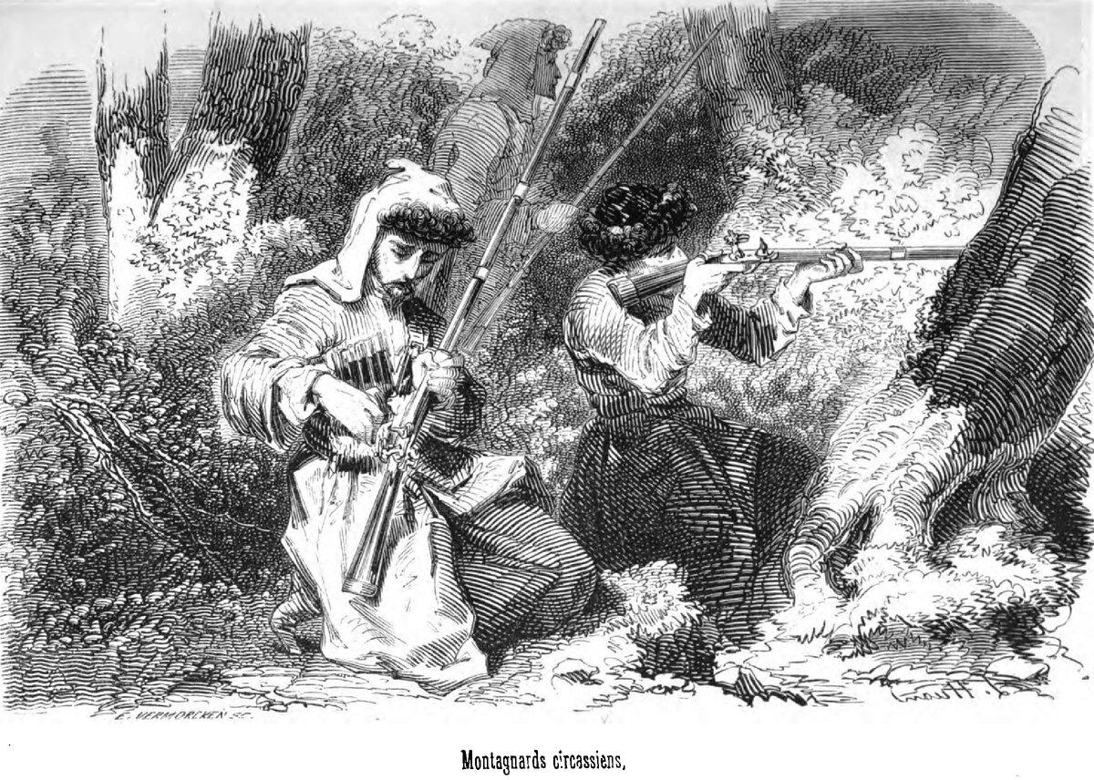 Тактика обороны аулов у черкесов в войне с русскими.