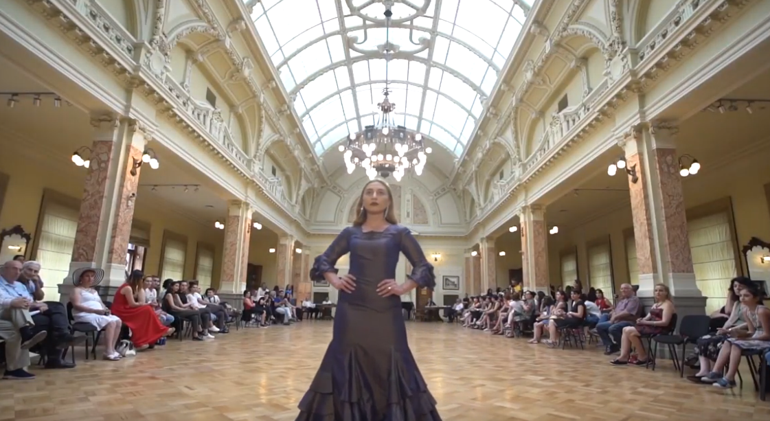 Circassian designer Mila Ardan.Fashion show in Tbilisi,Georgia 2019.