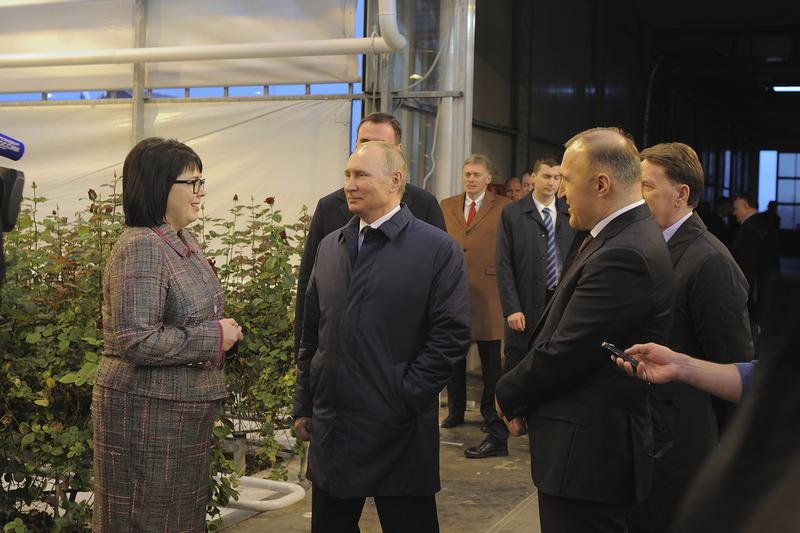 Владимир Путин посетил в Адыгее тепличный комплекс «Зелёный дом»