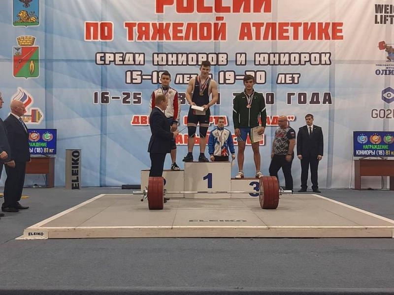 Тяжелоатлет из Адыгеи стал бронзовым призером первенства России