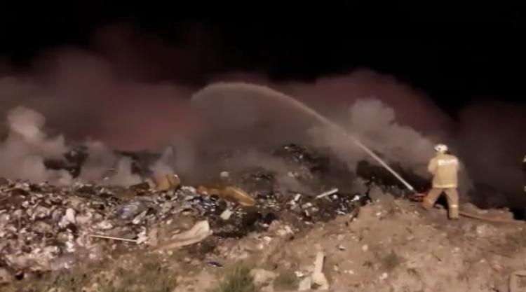 Пожар на полигоне ТБО в Адыгее ликвидирован