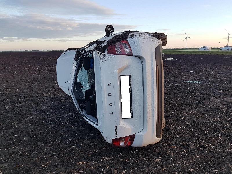 В Адыгее произошло 2 ДТП с опрокидыванием автомобилей