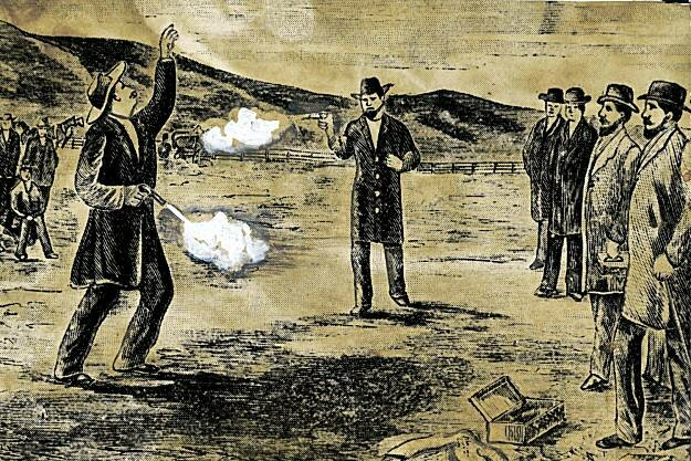 """""""Поединок на очковой змее"""": какие дуэли считались """"неправильными"""" и """"исключительными"""" в конце XIX века"""