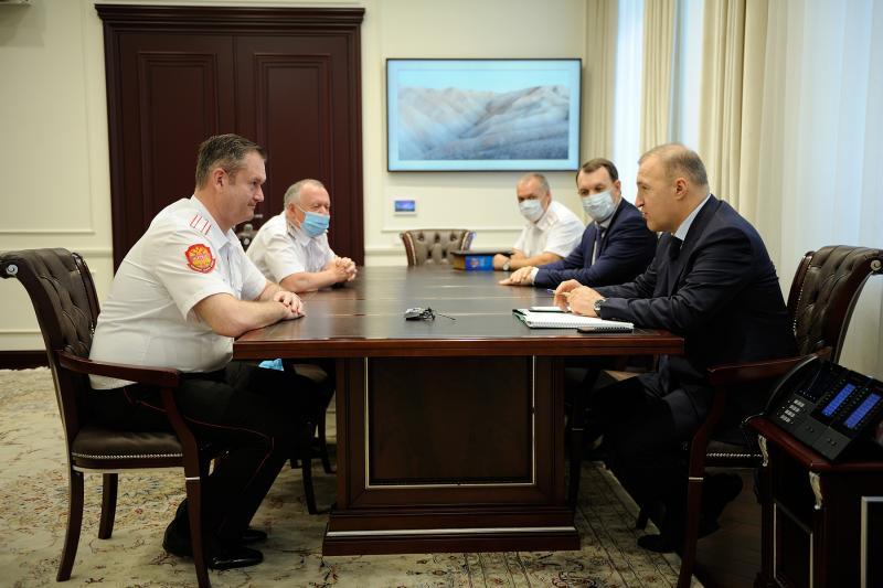Глава Адыгеи провел рабочую встречу с заместителем губернатора Краснодарского края