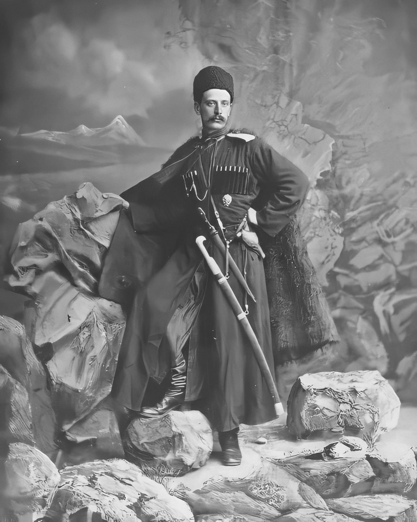 Человек-османский черкес, Стамбул, 1887 год.